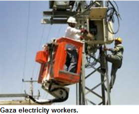 Gaza electicity workers