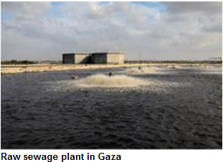 Sewerage plant in Gaza