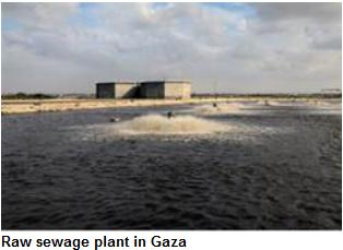 Sewerage plant in Gaza