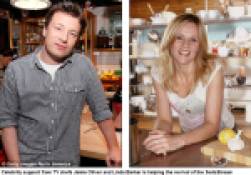 Jamie Oliver and Linda Barker