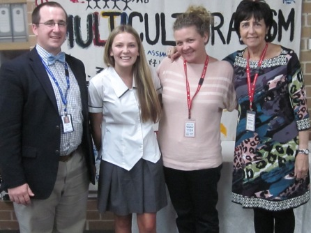 Suzanne. This is her with Marilyn Immerman, Education chair and students